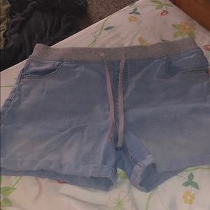 Denim justice stretch waist shorts